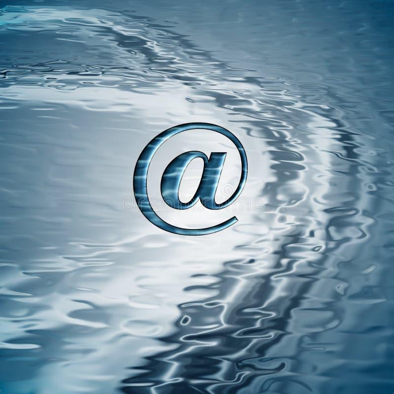 背景电子邮件符号 向量例证