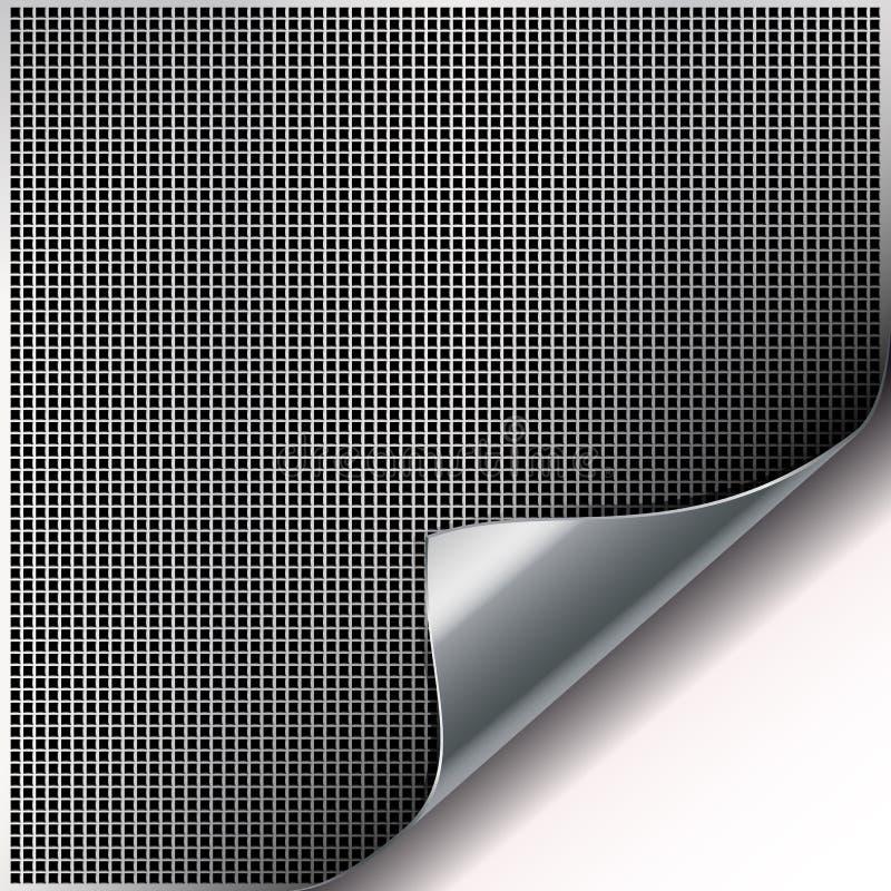 背景电池角落弯曲的金属正方形 库存例证