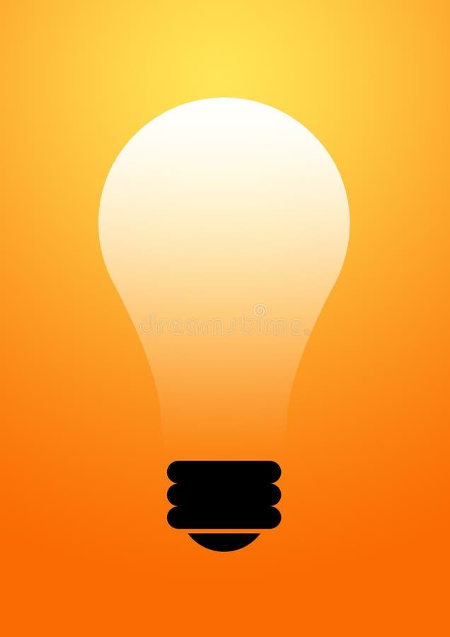 背景电灯泡发光 向量例证