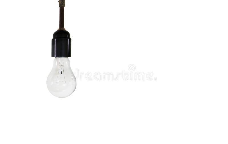 背景电灯泡电灯白色 免版税库存照片