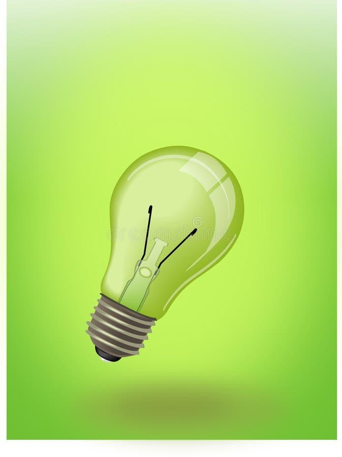 背景电灯泡绿色 向量例证