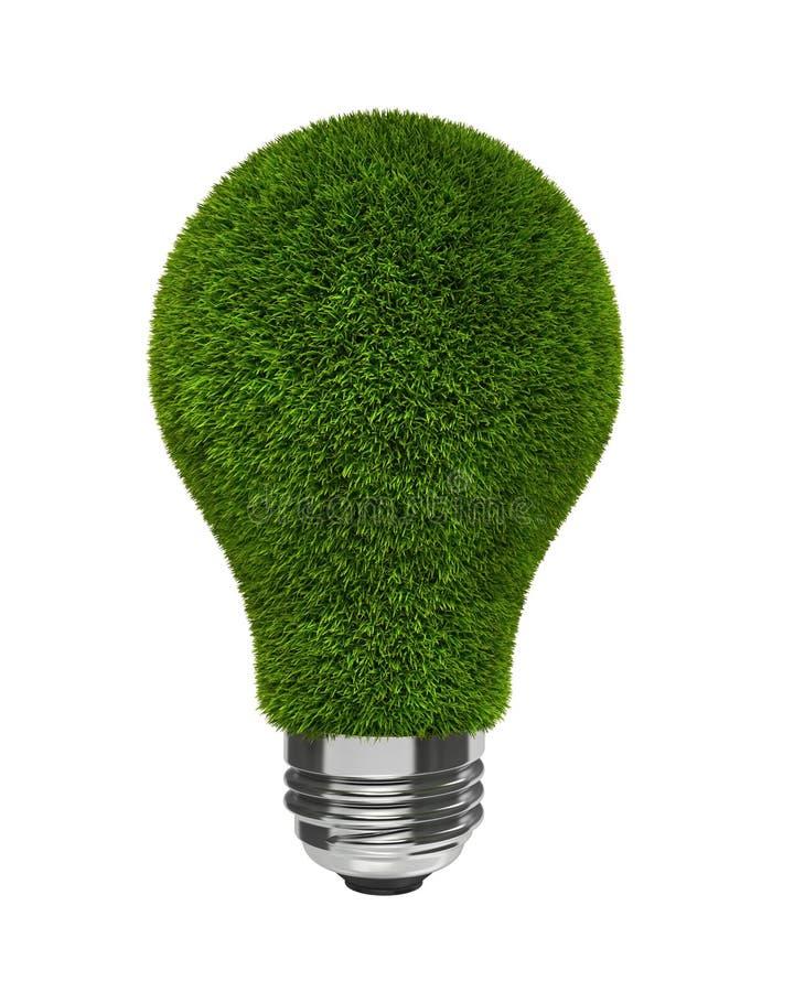 背景电灯泡草绿色光白色 皇族释放例证
