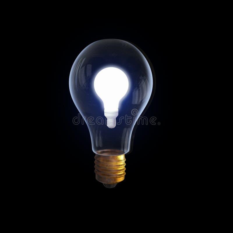 背景电灯泡玻璃图象查出的白色 免版税库存照片