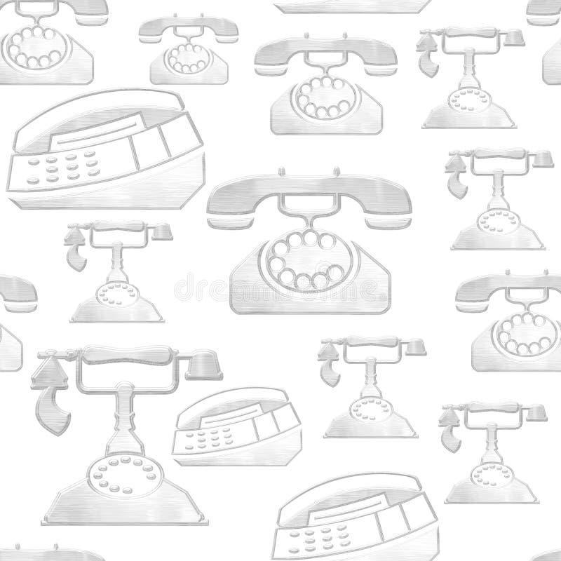 背景电话 库存例证