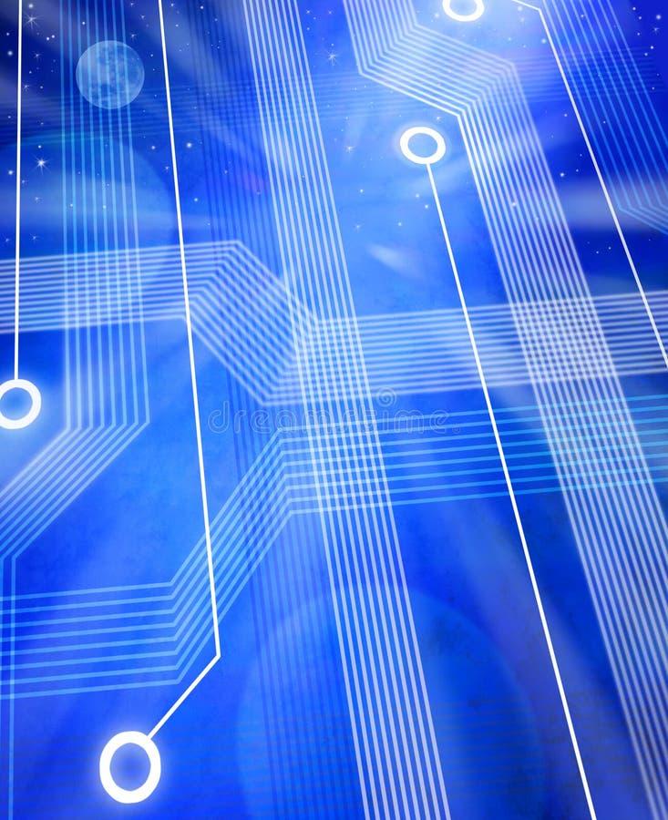 背景电路计算机科技 向量例证