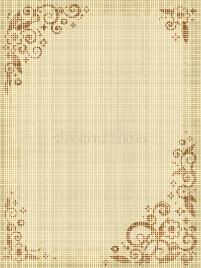 背景画布花卉图案 向量例证
