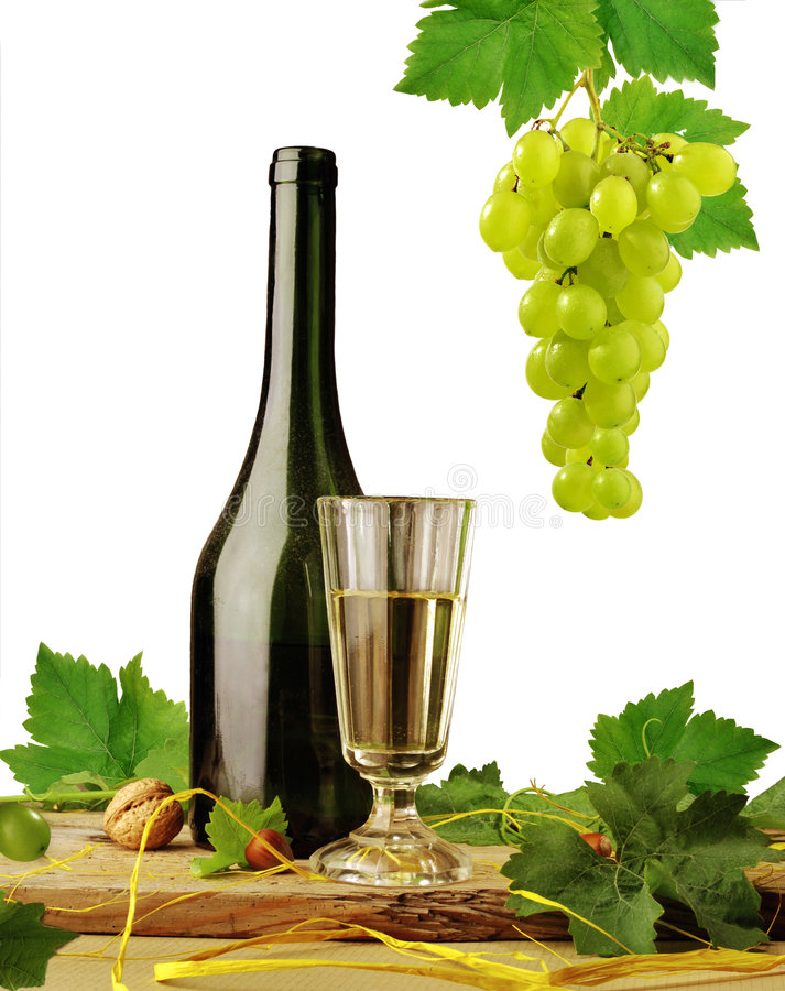 背景白葡萄酒 库存图片