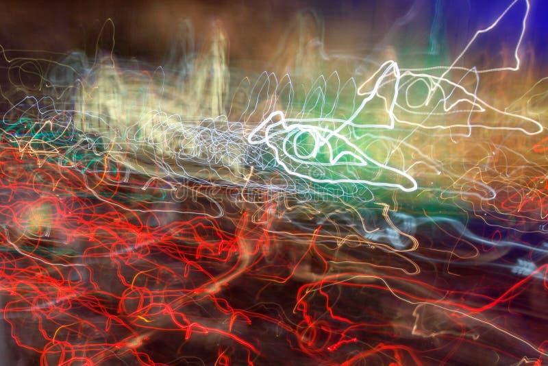 背景的五颜六色的灯光管制线自由 库存图片