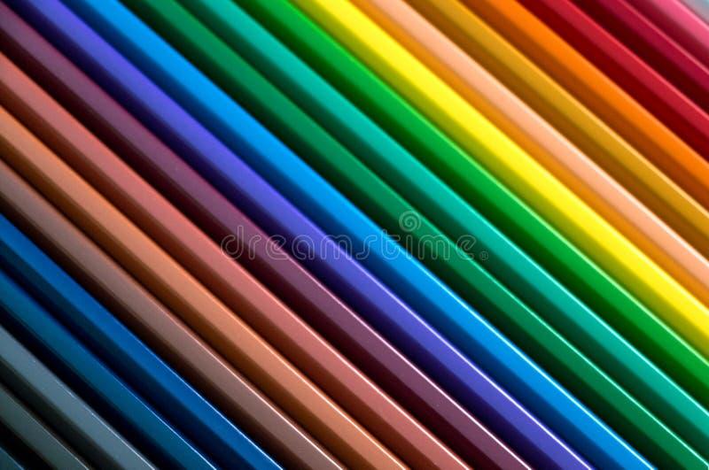背景的五颜六色的铅笔 图库摄影