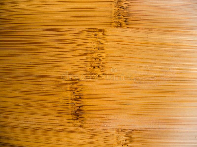 背景的布朗竹表面纹理 免版税库存图片