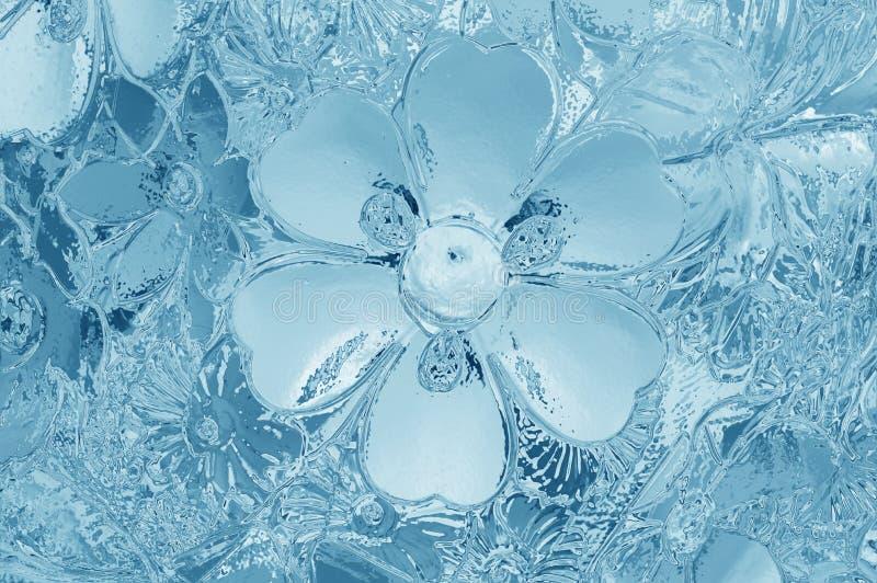 背景的彩色玻璃蓝色纹理 免版税图库摄影
