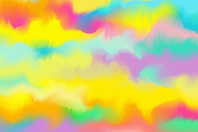 黄色�9��y.ly/)�o.�in9l#�+_背景的抽象五颜六色的水彩 数字式艺术paintin