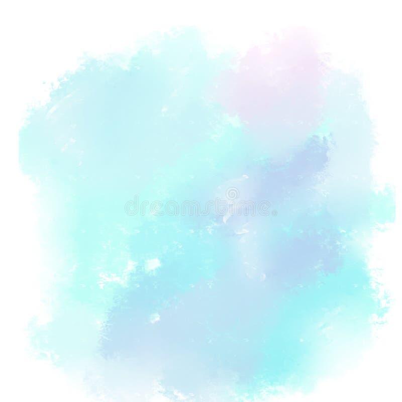 背景的抽象五颜六色的水彩 库存例证
