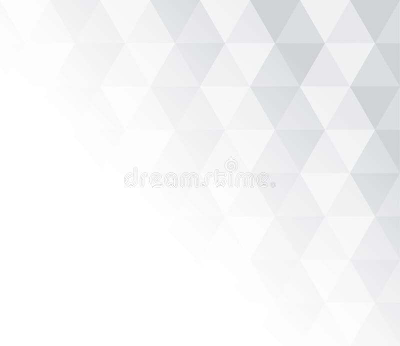 背景的抽象灰色和白色样式 库存例证