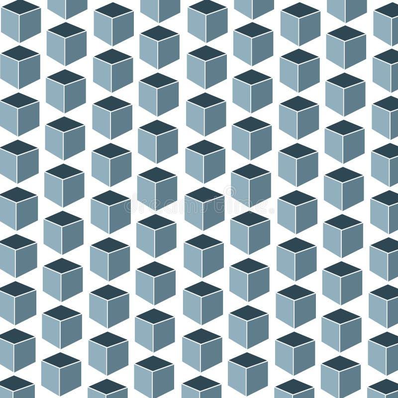 背景的样式与正方形3D形状 皇族释放例证