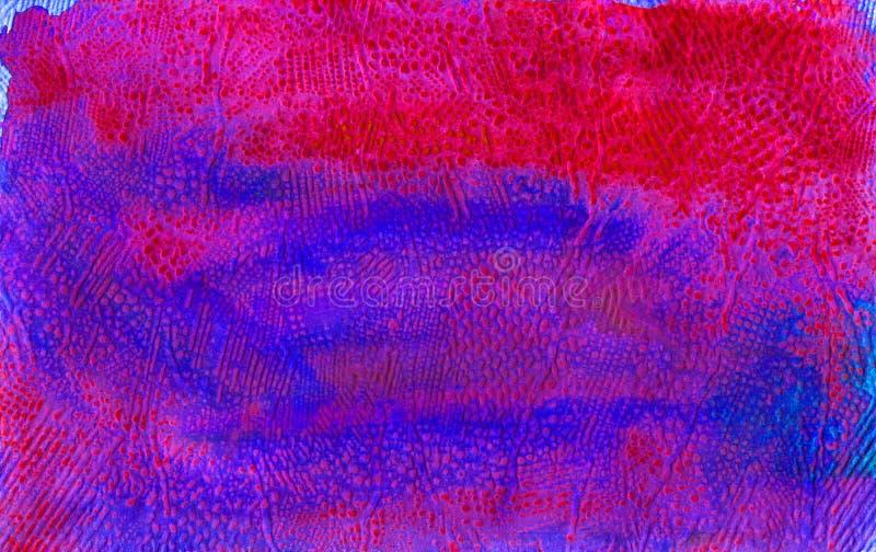 背景的水彩容量纹理 抽象脚跟颜色和污点 上颜色 库存例证