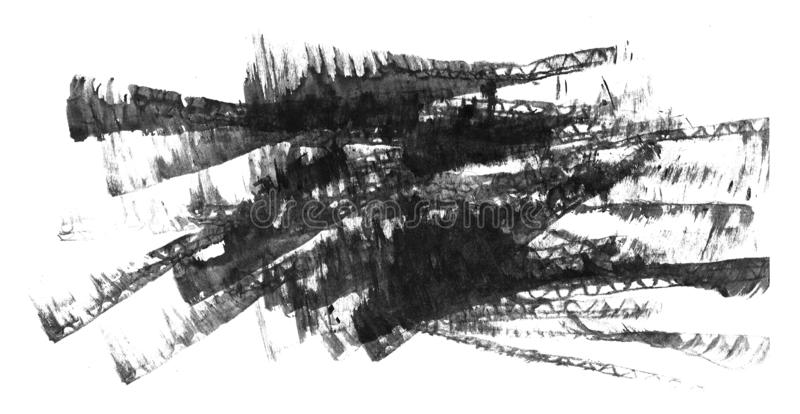 背景的水彩抽象手画织地不很细湿墨水斑点 库存例证