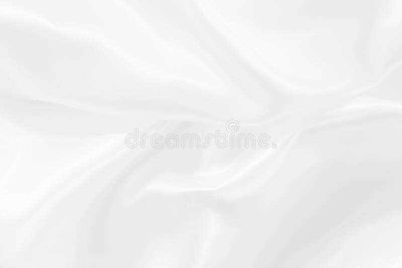 背景的白色织品丝绸的纹理,样式或亚麻布 免版税库存照片
