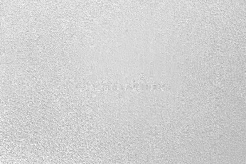 背景的老白色人造皮纹理 库存照片
