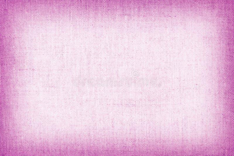 背景的自然亚麻制纹理,桃红色颜色 免版税图库摄影