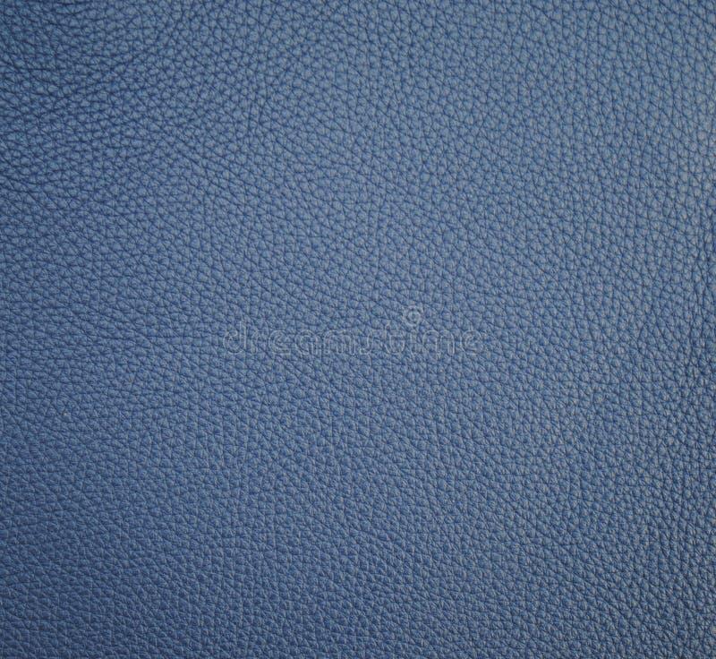 背景的蓝色矿物皮革纹理 免版税库存照片