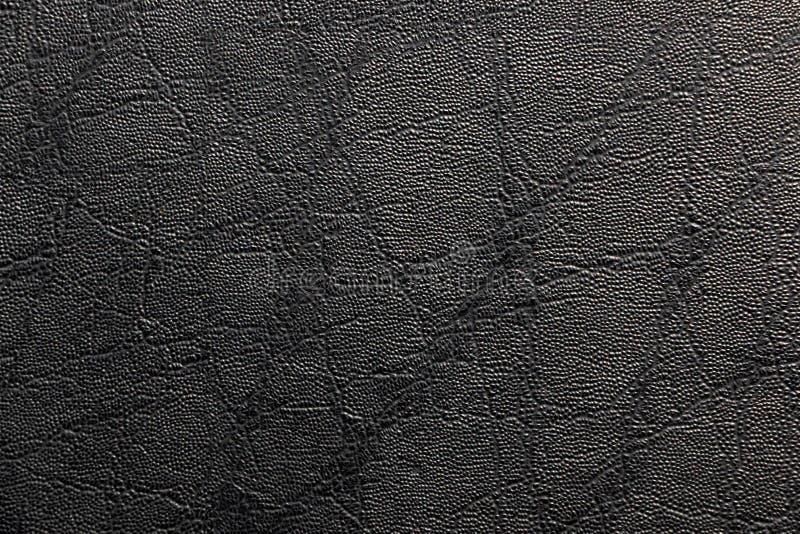 背景的黑皮革纹理 免版税库存图片