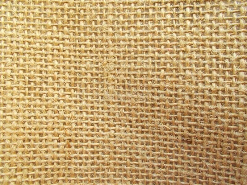 背景的麻袋布纹理 库存照片