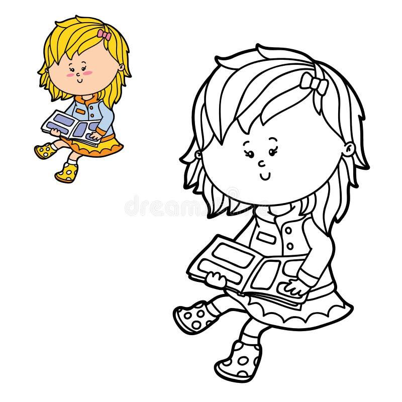 背景看板卡动画片女孩问候页模板普遍性万维网 库存例证