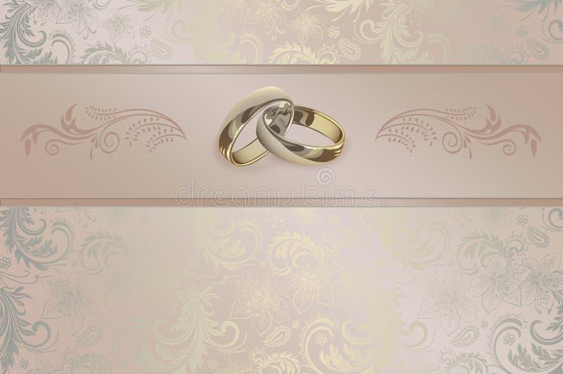 背景看板卡图画邀请向量婚礼白色 库存例证