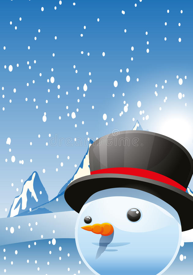 背景看板卡圣诞节人新的s雪年 向量例证