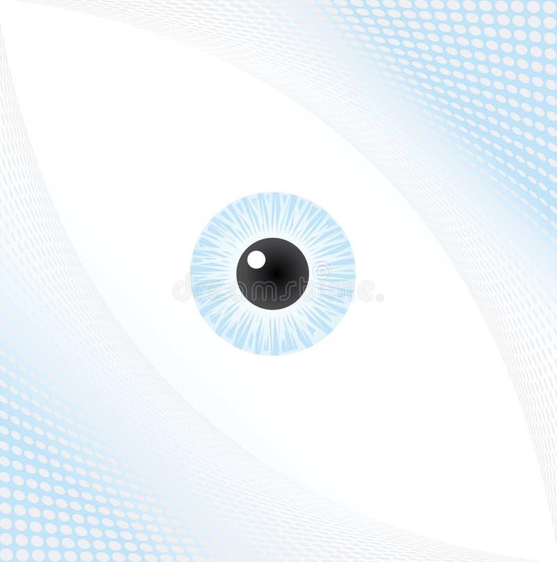 背景眼睛中间影调 库存例证