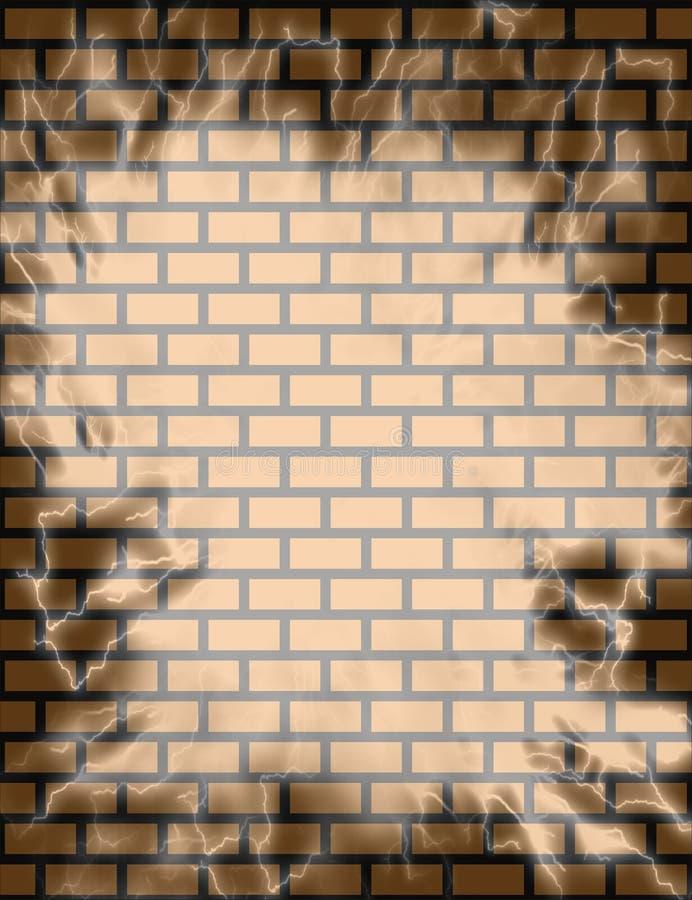 背景砖墙 皇族释放例证