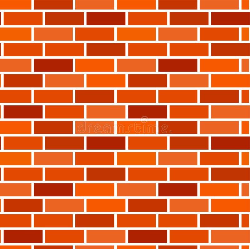 背景砖桔子墙壁 模式无缝的向量 布朗砖砌&石工纹理 担架连续债券 皇族释放例证