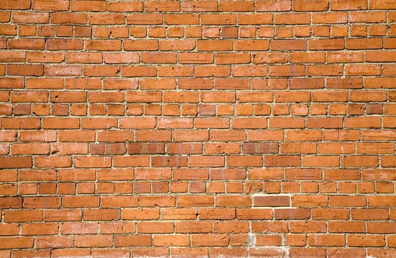 背景砖桔子墙壁 库存照片