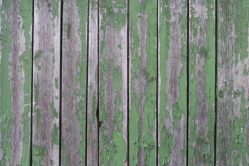 背景破旧的木头 篱芭绿色 库存图片