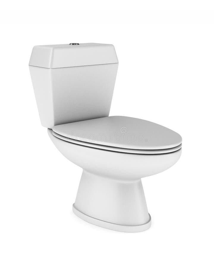 背景碗洗手间白色 皇族释放例证