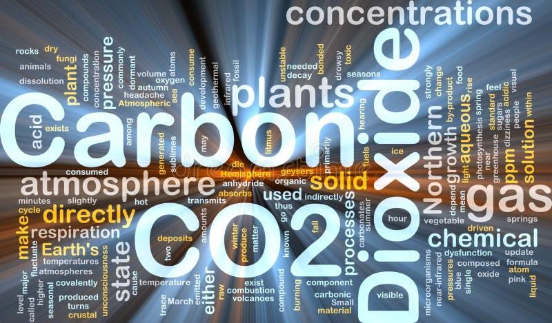 背景碳概念二氧化物发光 皇族释放例证