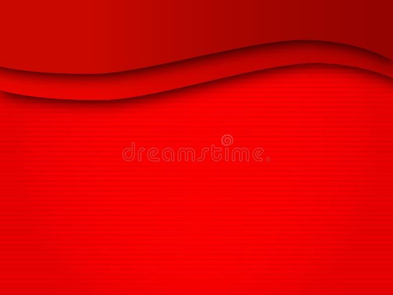 背景磁力线红色通知 库存例证