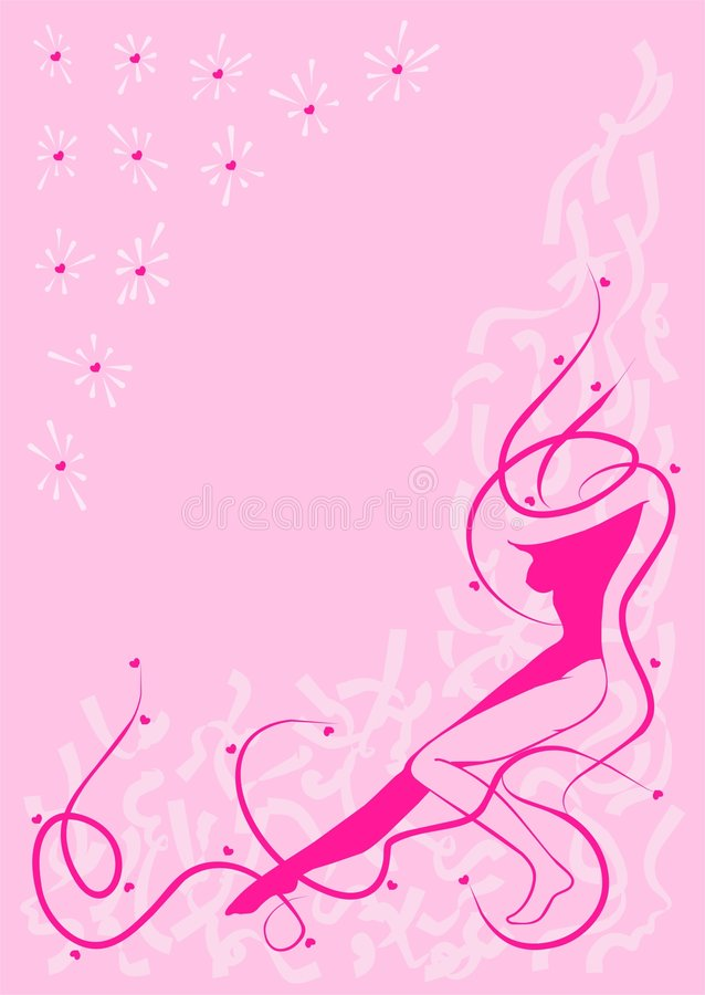 背景秀丽粉红色 向量例证