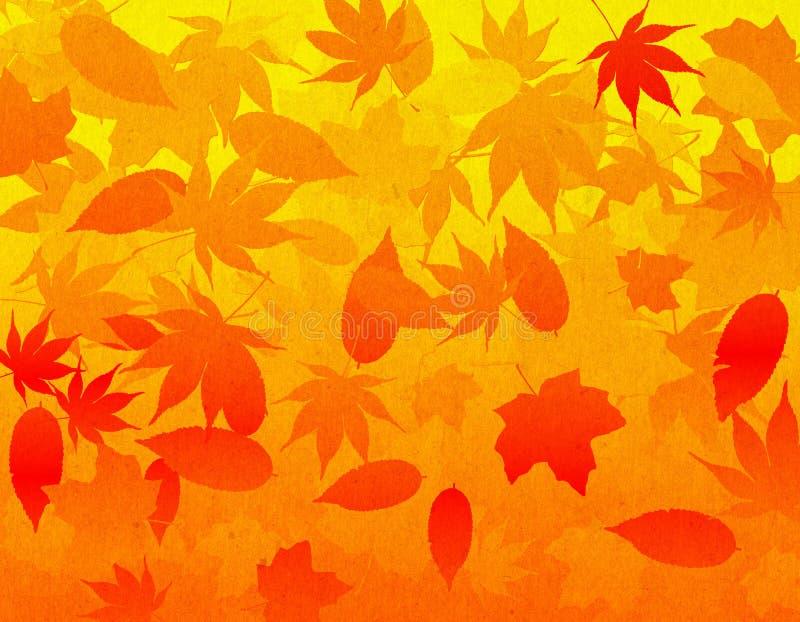 背景秋天叶子 向量例证