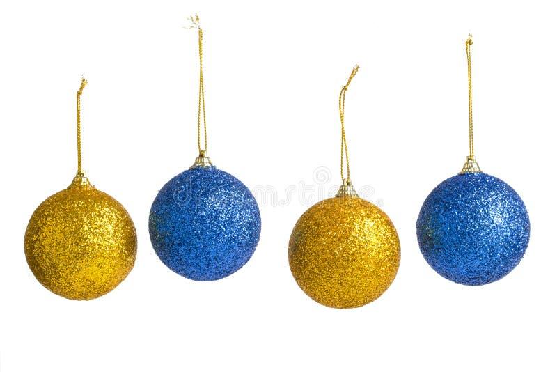 背景空白圣诞节的装饰 免版税库存照片
