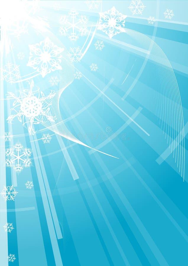 背景空白圣诞节的雪花 库存例证