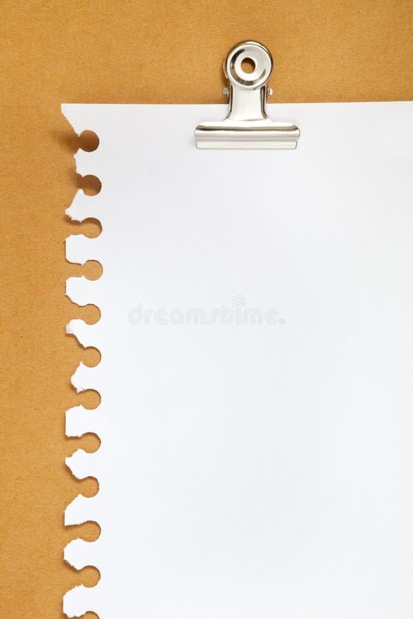 背景空白纸板便条纸 库存照片