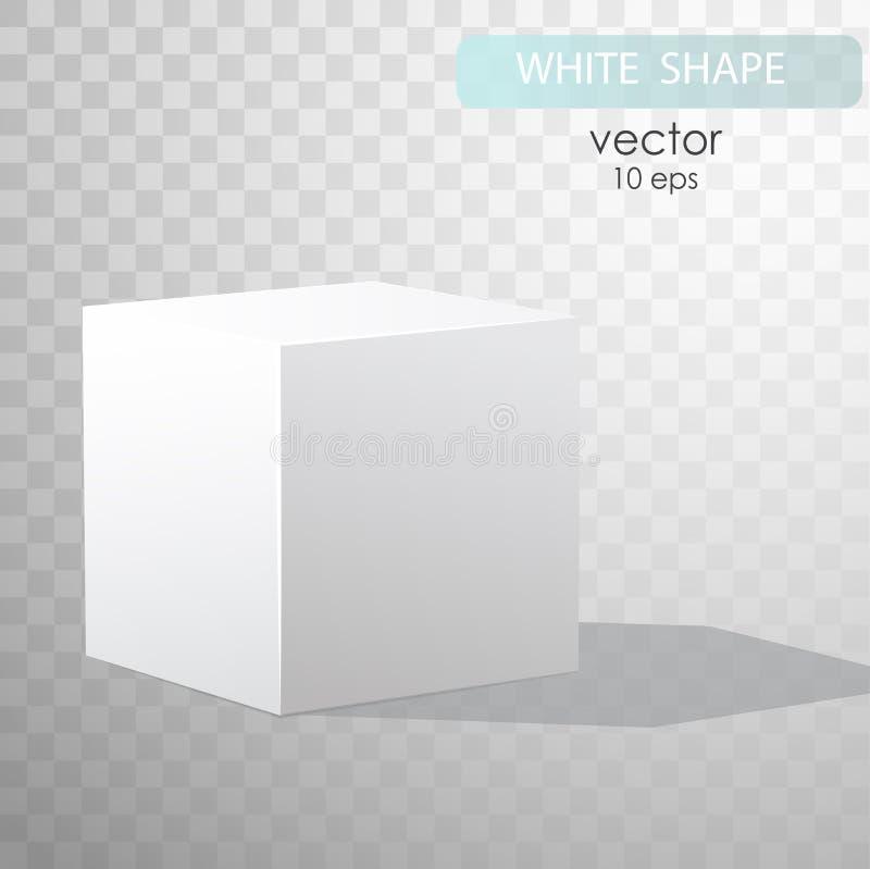 背景空白配件箱反映白色 库存例证