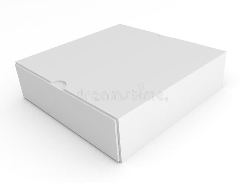 背景空白配件箱空的白色 皇族释放例证