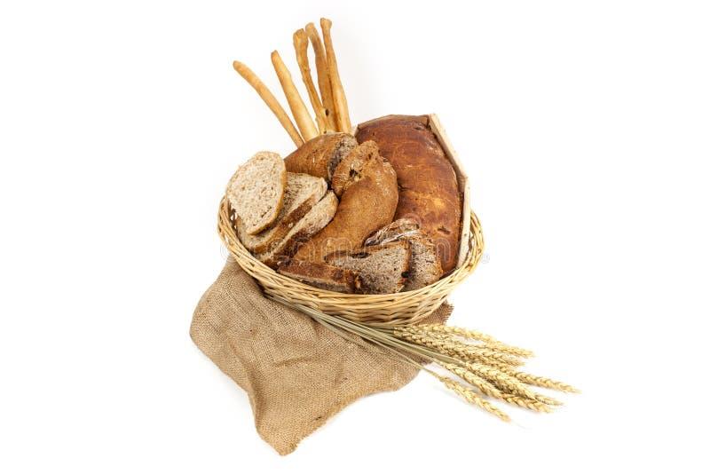 背景空白面包的谷物 免版税库存照片