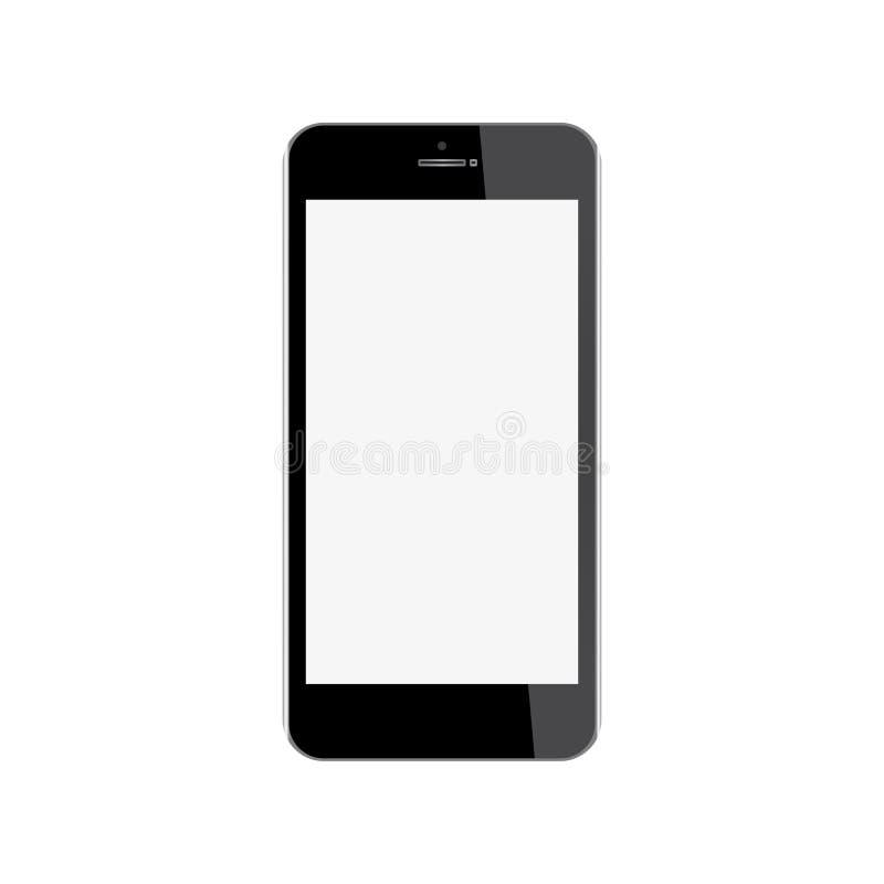 背景空白eps10例证查出移动电话可实现的屏幕向量白色 皇族释放例证