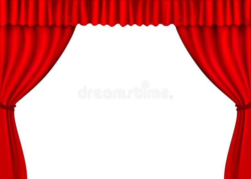 背景窗帘红色向量天鹅绒 皇族释放例证