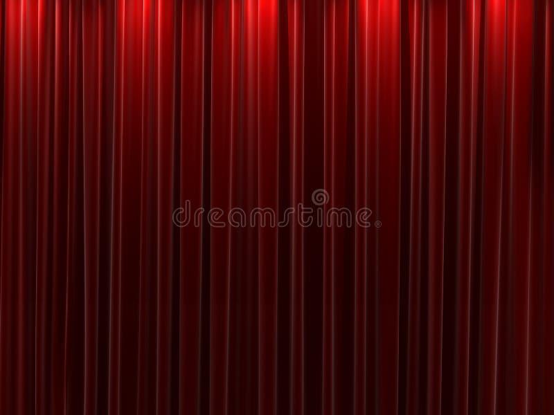 背景窗帘红色天鹅绒 皇族释放例证