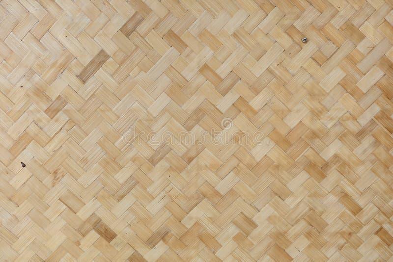 背景竹placemat无缝的纹理向量柳条 免版税库存图片